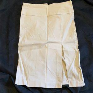 Khaki Chino Pencil Skirt